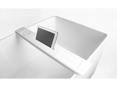Ideavit Solid Surface badrek met ipad houder Solidflex