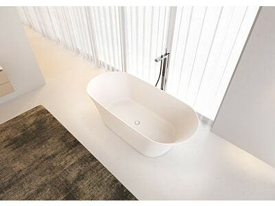 Riho solid surface vrijstaand bad mat wit - 170 x 79 x 55 cm