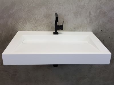 Solid Surface wastafel Solid Cascate 90