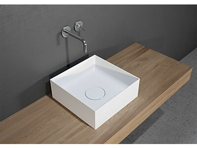 Solid Surface waskom Riho Thin bowl Square 38x38x14cm