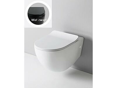 Artceram rimless toilet met soft-close zitting - mat zwart